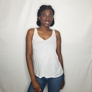 Ambiance Apparel White Tank Top